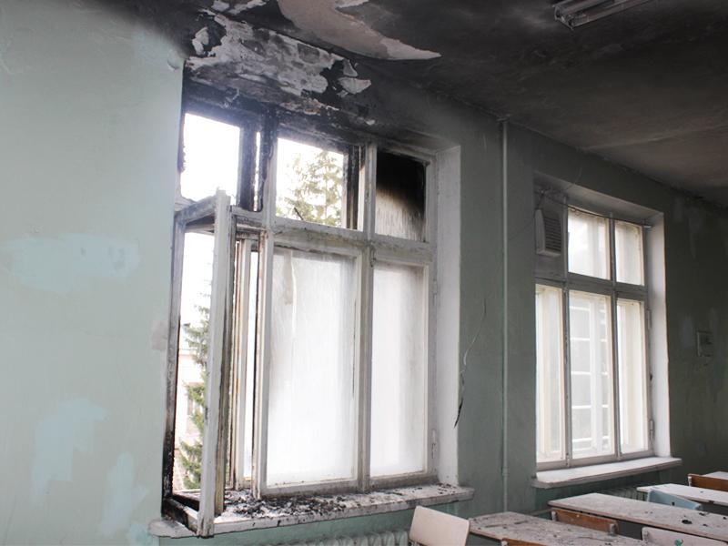 ВПензе школьников эвакуировали из-за пожара вкабинете химии