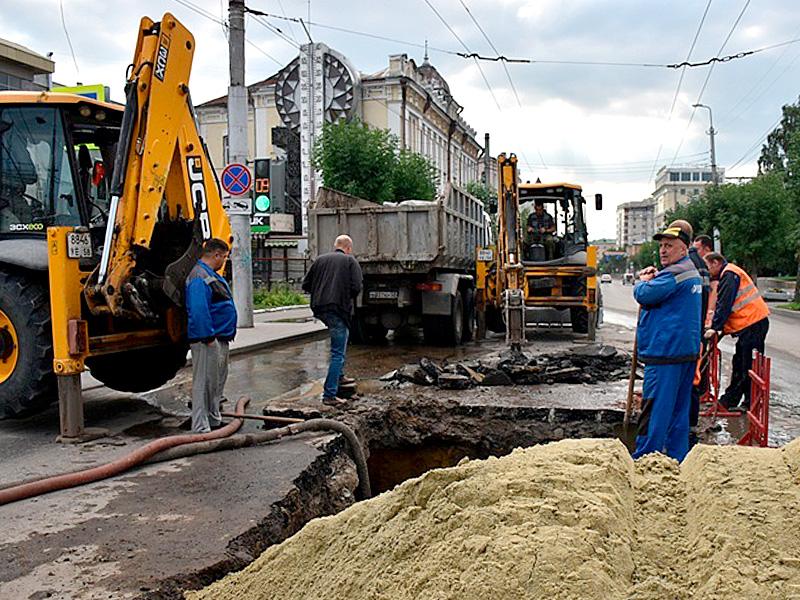 ВПензе вцентре города прорвало водопровод