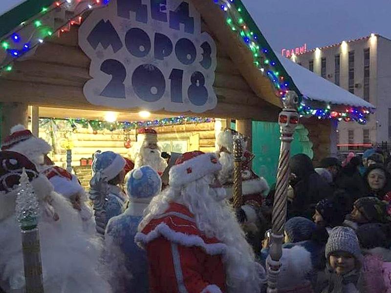 ВПензе торжественно открыли домик Деда Мороза