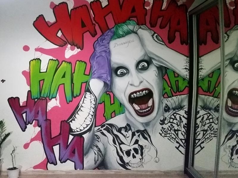 Citizen Of Penza Region Paints Deadpool Green Goblin Joker