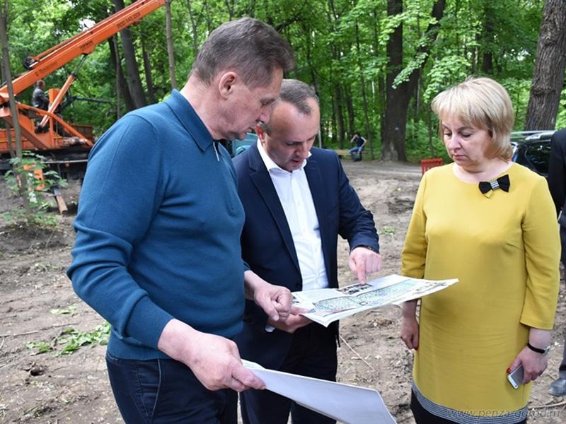 Зеленая зона между улицами Лермонтова иПопова будет комфортной для пензенцев