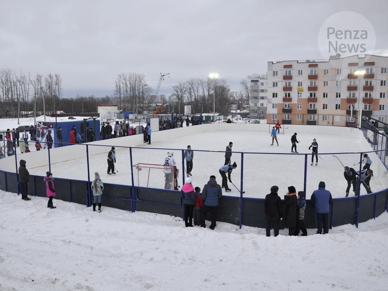 ВПензенской области открылась новая хоккейная площадка