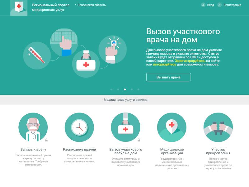 Пациенты Пензенской области могут вызвать медсотрудника надом через Интернет