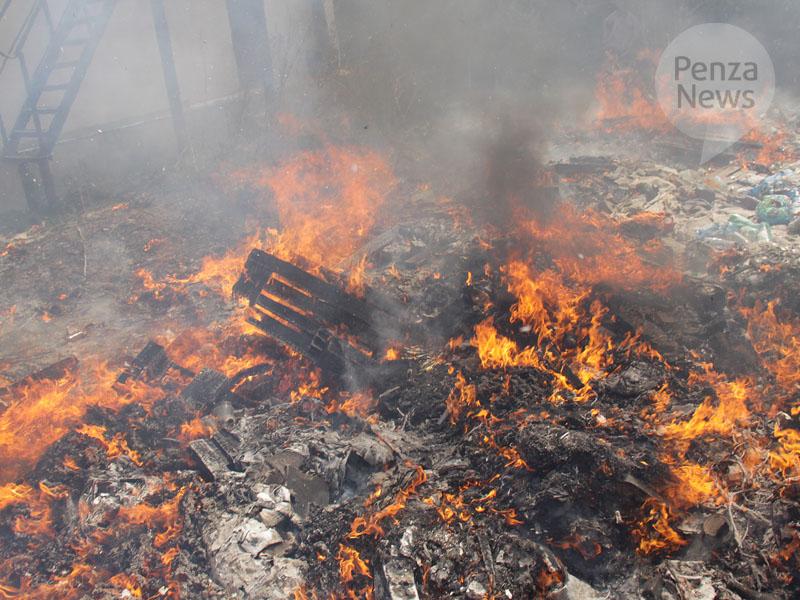 Двое мужчин погибли при пожаре в бесхозном строении в Засечном