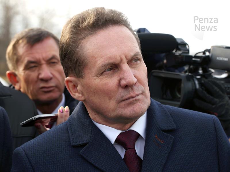 Пензенскому губернатору представили проект ремонта дороги изТерновки вКривозерье